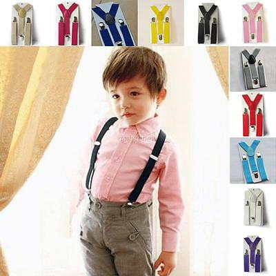 Fashion Kids Boy Girls Child Baby Children Clip on Y Back Elastic Suspenders D10