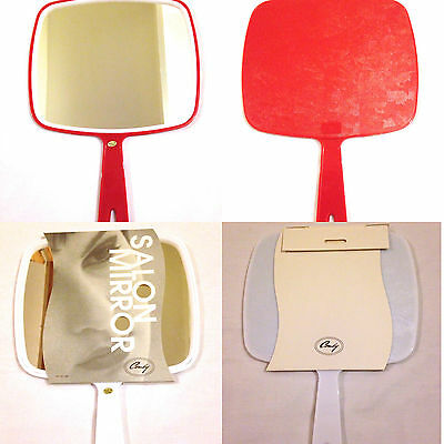 PROFESSIONAL SALON MIRROR- Hand held mirrors RED and WHITE