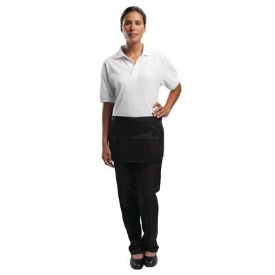 Whites Chefs Apparel Black Money Pocket with Zip Catering Cafe Serving