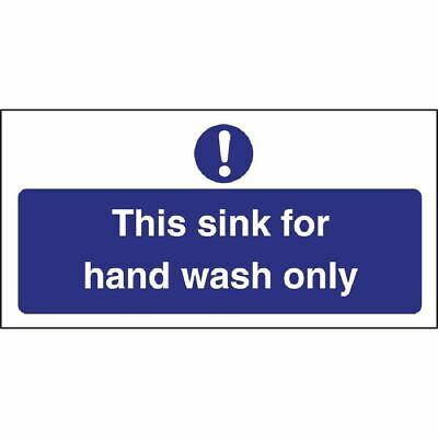 Vogue Hand Wash Only Sign Waterproof and Highly Visible - 230x90mm