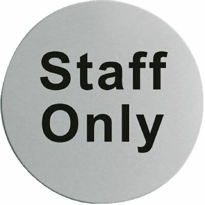 Stainless Steel Door Sign - Staff Only Self-Adhesive Information Notice Plaque