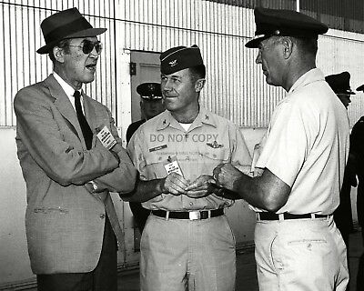 Test Pilot Chuck Yeager With Actor James Stewart In 1963 - 8X10 Photo (Zz-028)