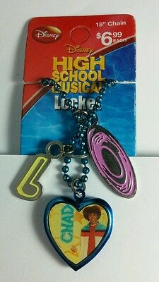 HIGH SCHOOL MUSICAL CHAD DEEP BLUE RECORD NOTE LOCKET NECKLACE STOCKING STUFFER