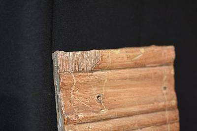 Antique Vtg Victorian Primitive Architectural Wood molding corner PLINTH block