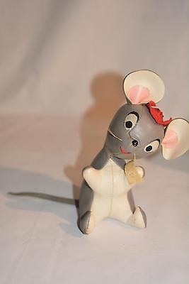 1960s Vintage Japan MOUSE Vinyl Stuffed TOY #891