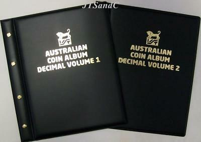 VST Australian Decimal Coin Albums Vol 1 & 2 -- 1966 to December 2018 *Free Post