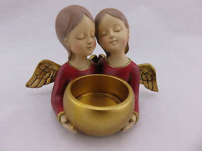 Pair Of Angels Figurine / Candle Holder, Great Gift Idea!