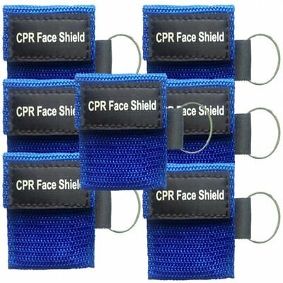 Blue Key Chain CPR Face Shield - Brand New Unbranded, 2x2 Inches