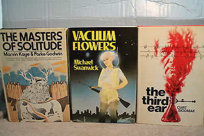 lot vtg old SCI FI THE THIRD EAR MASTERS OF SOLITUDE VACUUM FLOWERS SWANWICK