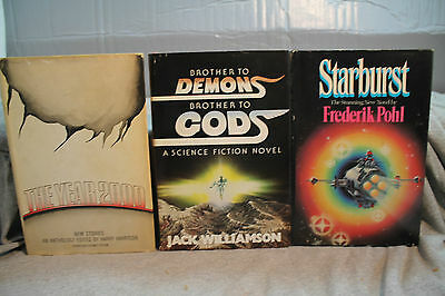 lot vtg old Sci-Fi STARBURST THE YEAR 2000 BROTHER TO DEMONS BROTHER TO GODS