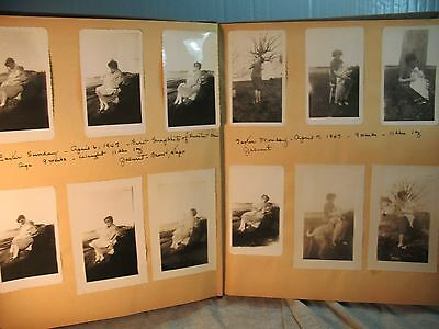 vintage old FAMILY PHOTO ALBUM JESSE EDWIN DAVIS JR baby pics 1947 -