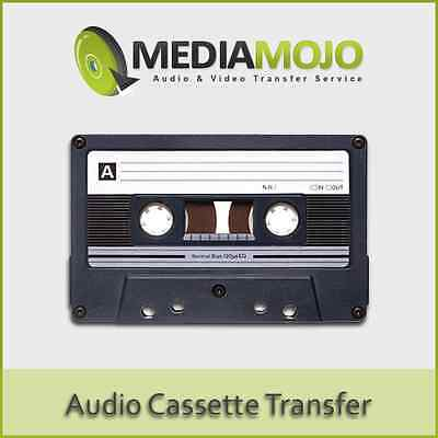 Audio Cassette Tape to CD Transfer Service - 90 & 120 Minute Tapes (Platinum)