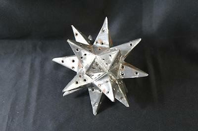 Vintage Tin Moravian Star Christmas Tree Topper - Free Shipping!