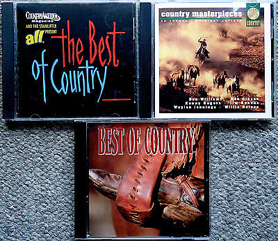 THE BEST OF COUNTRY/MASTERPIECES 3 cd Kenny Rogers/Jim Reeves/Loretta Lynn/MORE
