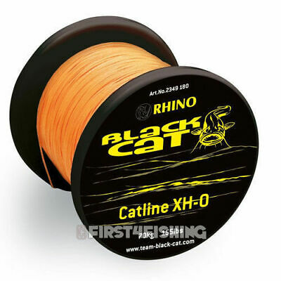 Black Cat XH-O Braided Mainline - Catfish Carp Pike Cod Shark Sea Fishing Tackle