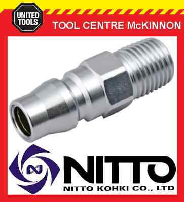 "Nitto Male Coupling Air Fitting With 1/4"" Bsp Male Thread (20Pm) – Japan Made"