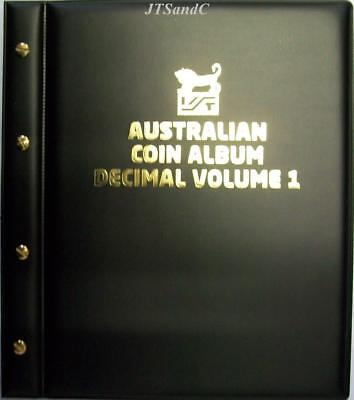 VST Australian Decimal Coin Album 1966 to October 2016 - Blue Cover FREE POSTAGE