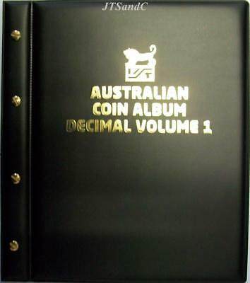 VST Australian Decimal Coin Album Volume 1 from 1966 to Dec 2015 Black Cover