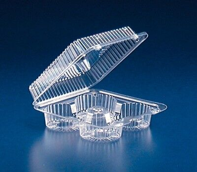 4-Cup Compartment Clear Plastic Large Muffin Cupcake Bakery Container REF#SLP72D