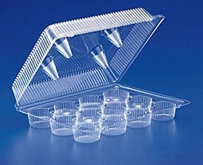 12-Cup Compartment Clear Plastic STANDARD Cupcake Bakery Container REF# SLP212