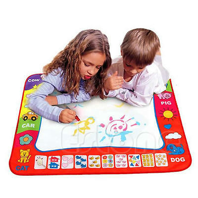 80*60CM Kid Toy Water Drawing Writing Painting Mat Board 2 Magic Pens Doodle Mat