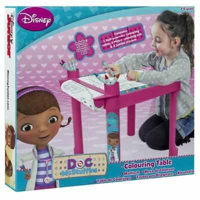 Disney Doc Mcstuffins Activity Drawing Table Colouring Desk Toy Stationery Set