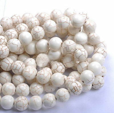 White Howlite Turquoise Gemstone Round Loose Beads 6MM 8MM 10MM 12MM 14MM