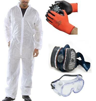 Paint Spraying PPE Safety Kit - Overall, MASK, Goggles, Gloves