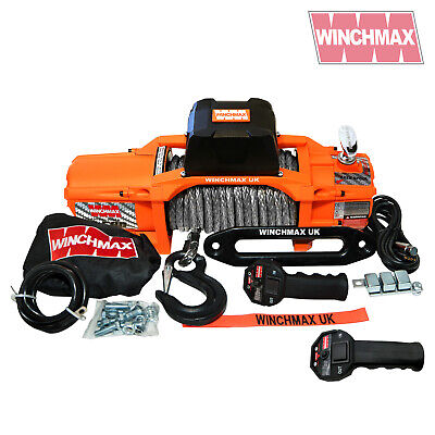 ELECTRIC WINCH 12V 4x4 13500 lb SL WINCHMAX BRAND - SYNTHETIC ROPE - WIRELESS