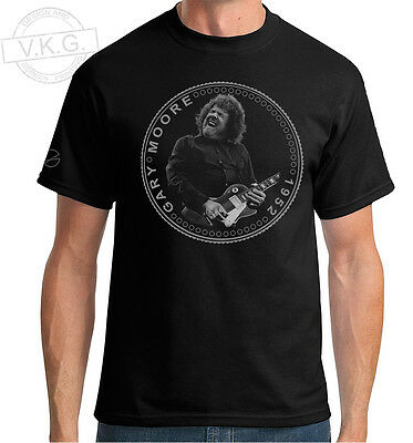 Gary Moore of Thin Lizzy and Skid Row Cool Coin  T shirt by V.K.G.