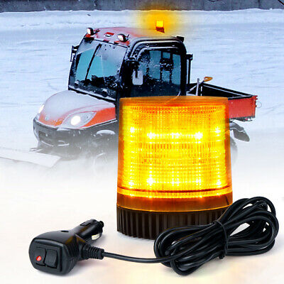 Rotating Revolving Amber Magnetic Base Safety Emergency LED Strobe Light Beacon