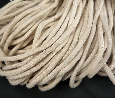 10yd / 9 mts Beige Cotton Cord Rope String Drawstring Wrap 3.5mm CC3