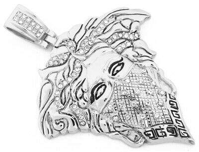 NEW TOP QUALITY Versace Medusa Face Pendant Luxury Necklace