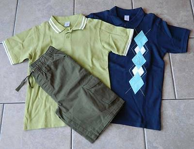Size 12 years outfit Gymboree,3 pc. set,cargo shorts,polo shirts,NWT