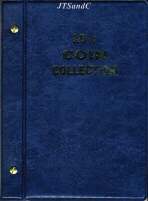 VST Australian 20c Coin Album 1966 to 2018 - Blue Cover **FREE POSTAGE**