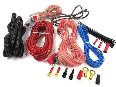 8 Gauge Amp Kit Amplifier Install Wiring Complete 8 Ga Installation Cables 1600W