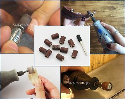 11pc 120Grit Sanding Band Drum Wheel Buffing Disc Sand Paper Drill Bit Tool Buff