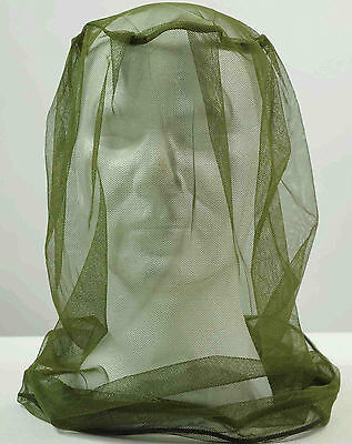 British Army Mosquito Head Net Insect Protection Olive midge gnat New