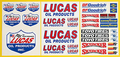 RC LARGE 5th SCALE LUCAS CORR Racing Short Course LAMINATED stickers decals
