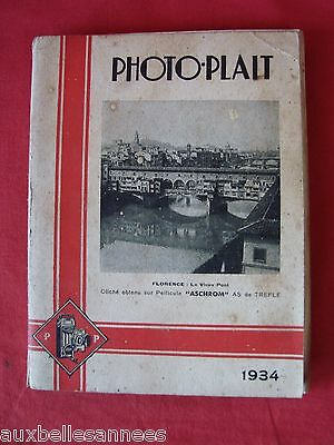 Ancien Catalogue 1934 Photo Plait / Photographie Cinema Appareil Photo