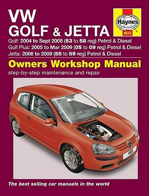 Haynes Manual Volkswagen VW Golf & Jetta 2004-2009 NEW 4610