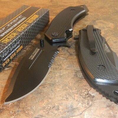 TAC-FORCE Spring Assisted Opening LARGE TACTICAL Drop Point Pocket Knife NEW!!
