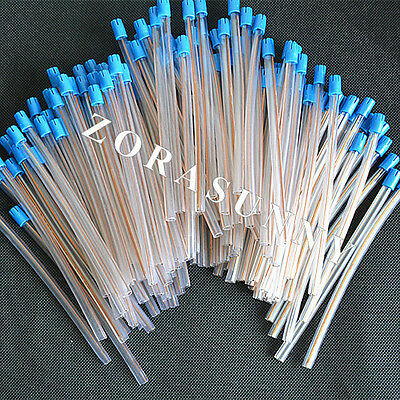 100PCS Dental Disposable Saliva Ejector Suction Tips Aspirator Nozzles New