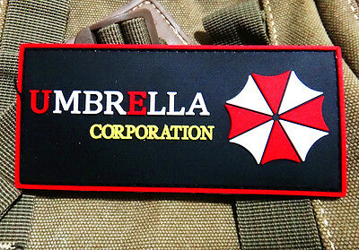 Resident Evil UMBRELLA CORPORATION  3D TACTICAL  AIRSOFT PVC BADGE PATCH