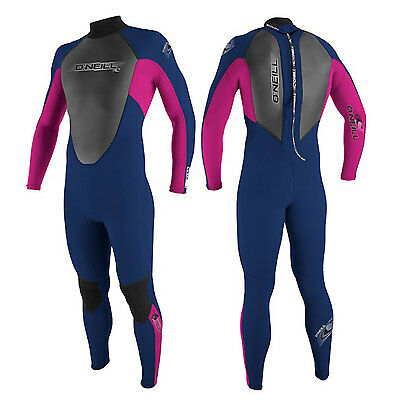 2016 O'Neill Reactor Kids Wetsuit  3 X 2  Blue Pink Wetsuit Surfing Etc