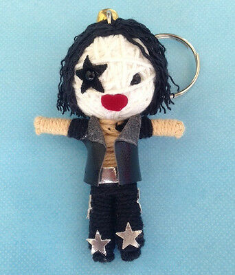 NEW THE KISS BAND STRING VOODOO DOLL KEYCHAIN KEYRING GIFT TOY THAI HANDMADE 1X.