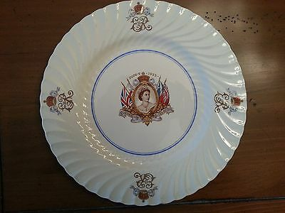 Vintage Queen Elizabeth II, 1953 Coronation Plate by Burgess Leigh Burleigh Ware