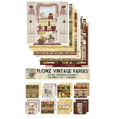24 Sheets 6x6 Medieval Patterns FLONZ Vintage Styled Paper for Decoupage Decoupage Paper Pack Craft and Scrapbooking
