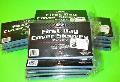 2000 FIRST DAY COVER POLY SLEEVES, FOR #6-3/4 COVERS, BCW, w/ FREE SHIPPING