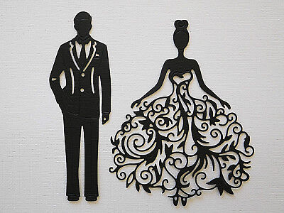 Lady and Man Paper Die Cuts x 3 Sets Scrapbooking Card Topper Embellishment